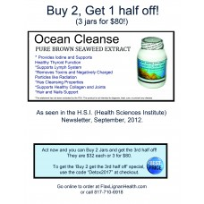 Ocean Cleanse Special - Buy 2, Get 1 half off